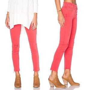 MOTHER Rouge The Double Fray Charmer Sz 24 REVOLVE